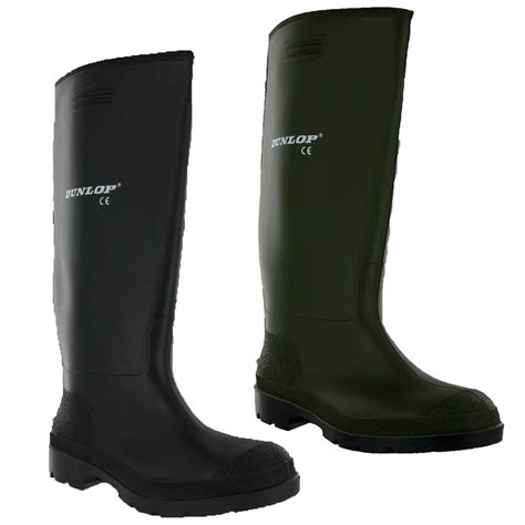 dunlop mens wellington boots mens dunlop rubber wellington boots wellies 7 8 9 10 11 ebay