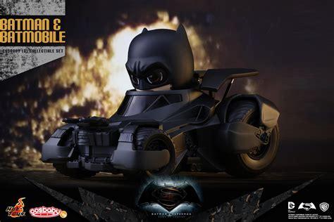 Toys Cosbaby Bvs Superman Boxset batman and batmobile cosbaby set by toys the toyark news