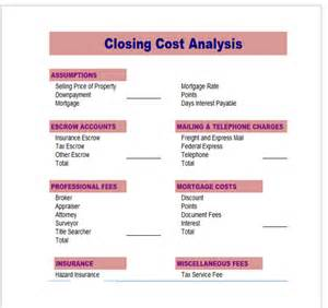sample cost analysis 8 documents in pdf word excel