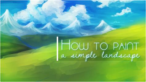 how to paint how to paint a simple landscape background in sai youtube