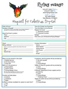Catering Business Proposal Template Catering Business Proposal Template For Excel Pdf And Word