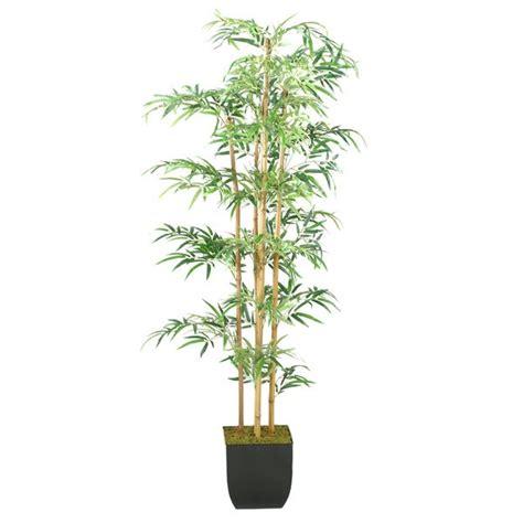 shop  foot bamboo tree  metal planter overstock