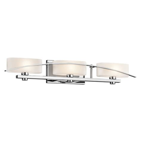 shop kichler lighting 3 light suspension chrome bathroom
