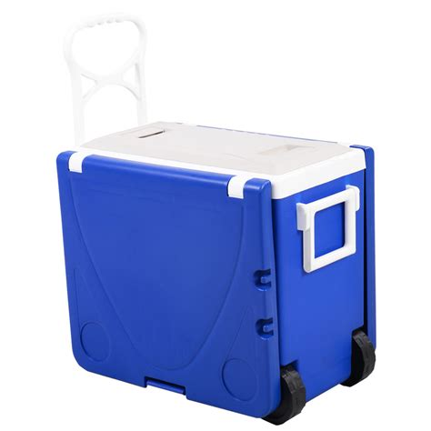 cooler table multi function rolling cooler picnic table w 2 chairs or blue