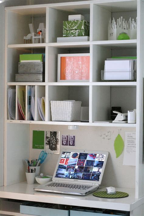 Small Desk Organization Desk A Day Small Space Saving Workspace 187 Curbly Diy Design Decor