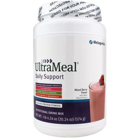 Metagenics Protein Powder Detox by Metagenics Ultrameal Daily Support 574 G Powder Mixed