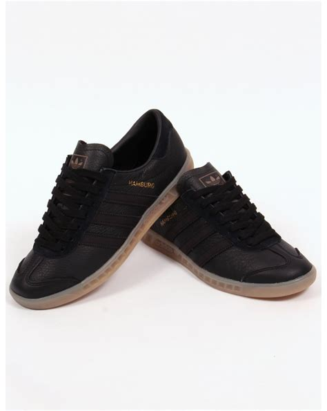 Kickers Gum Sole Black adidas hamburg leather trainers black gum originals mens