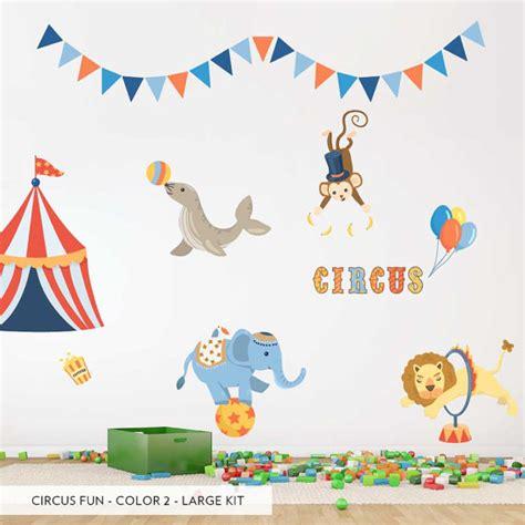 Circus Fun Printed Wall Decal Circus Nursery Decor Baby Circus Nursery Decor