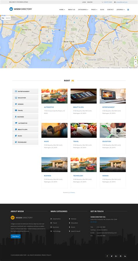 wisem responsive directory template for joomla by