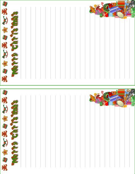 free printable christmas paper templates printable christmas letterhead