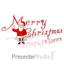 santa waving merry christmas
