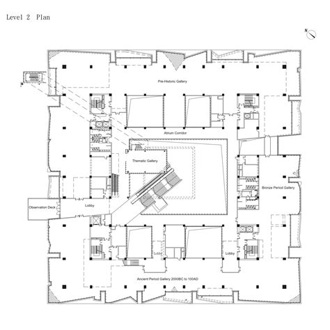 museum floor plan design gallery of yunnan museum design architects 24