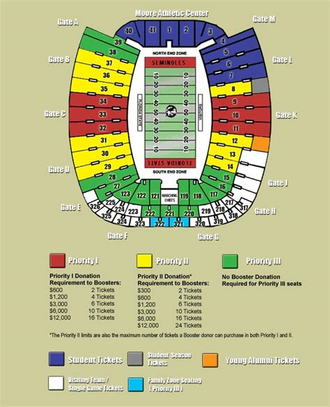 florida state stadium seating chart help shape ncaa football band locations page 3