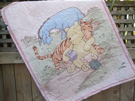 baby quilt classic winnie the pooh pink tigger eeyore