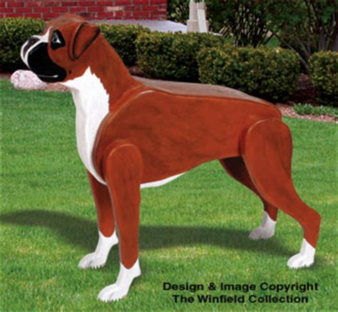 animal project patterns  life size boxer woodcraft