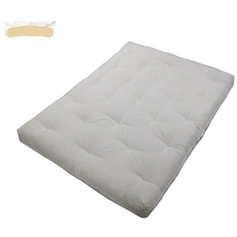 cotton futon au natural cotton filled 8 inch loft king size futon