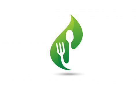 green food logo vector premium