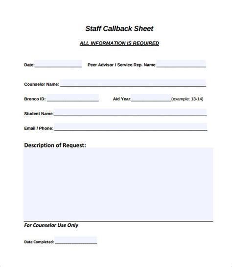 Call Sheet Template   11  Download Free Documents in Word, PDF