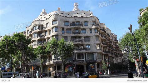 casa mila barcelona la pedrera casa mila gaudi building in barcelona stock