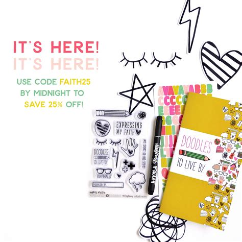 doodle live bible journaling kit doodles to live by is here