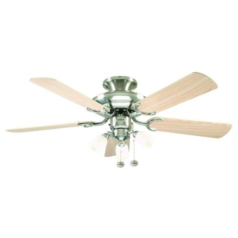 Fantasia Mayfair Ceiling Fan 42 Inch Stainless Steel With Fantasia Ceiling Fan Lights