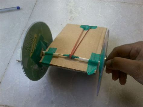 make rubber st at home how to make a simple pull back car rubber band powered