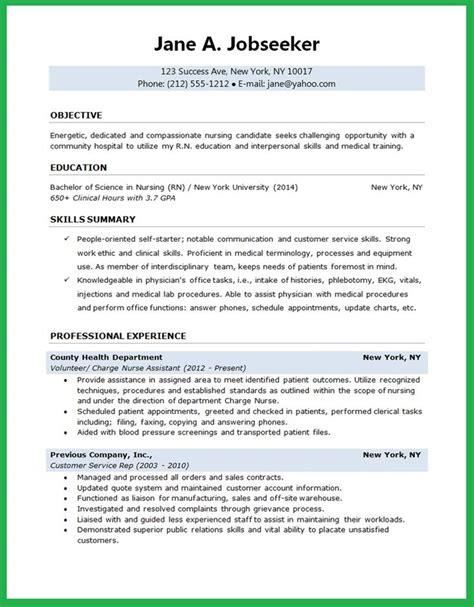 nurse resume sample career igniter