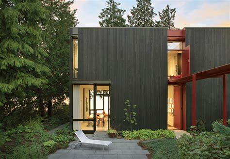 dwell home decor modern metal clad homes dwell steel facade of house in