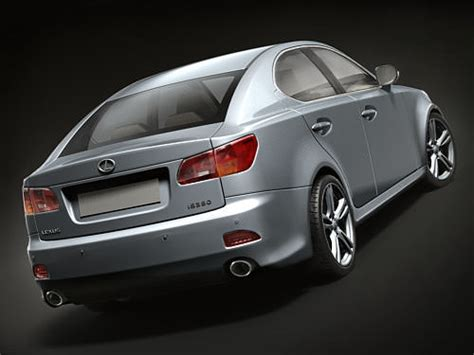 lexus models 2008 lexus is350 2008 3d model max obj 3ds fbx c4d lwo