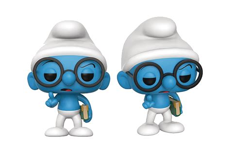 Funko Pop Original The Smurfs Astro Smurf may178733 pop smurfs brainy smurf vinyl figure
