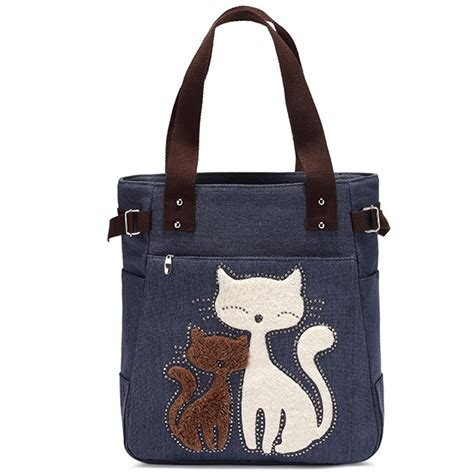Cat Bag kaukko cat canvas bag one shoulder messenger