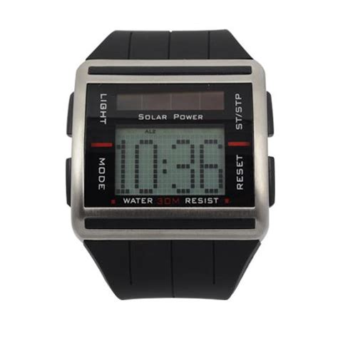 sport digital solar power binary with scrolling time