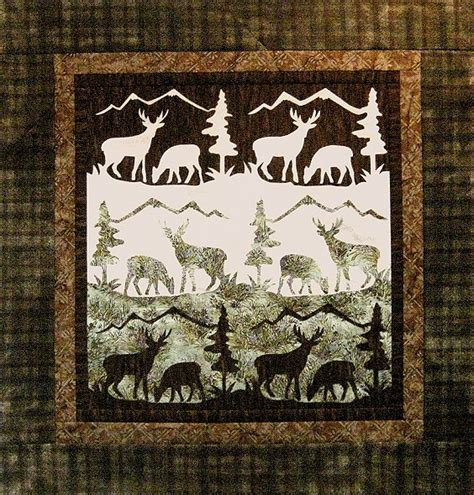 Deer Quilt Patterns qdnw mountain meadow deer quilt pattern