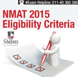 Nmims Executive Mba Eligibility Criteria by Nmat 2015 Eligibility Criteria Check Here