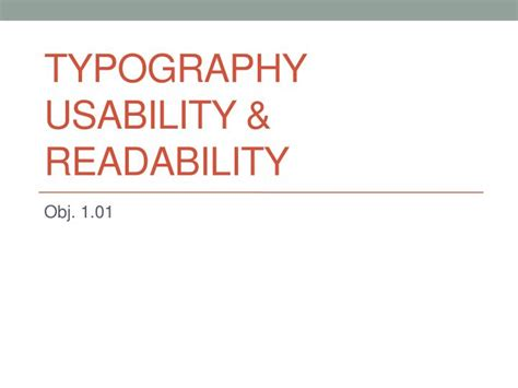 Ppt Typography Usability Readability Powerpoint