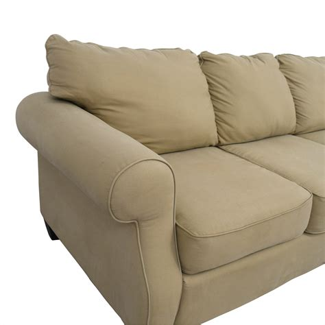 Curved Arm Sofa 83 Beige Three Cushion Curved Arm Sofa Sofas