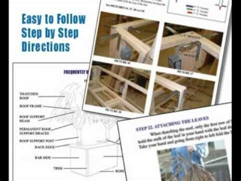 build your own blueprints build your own tiki bar tiki bar plans youtube