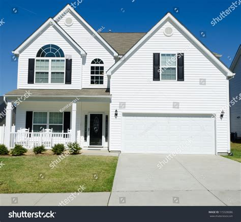 white siding house pictures residential house with white vinyl siding stock photo 115328086 shutterstock
