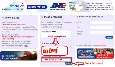 cek resi jne via internet cara cek no resi pengiriman jne via online infonewbi