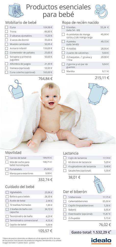 cuanto es el nacimiento 2016 191 cu 225 nto cuesta un beb 233 esenciales para reci 233 n nacidos
