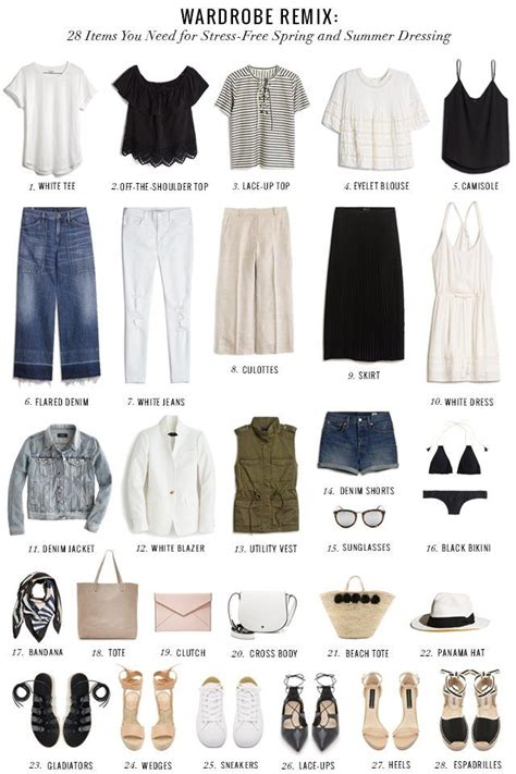 27 Top Must Classic Pieces by A Summer Wardrobe Checklist Of 28 Must Classic And