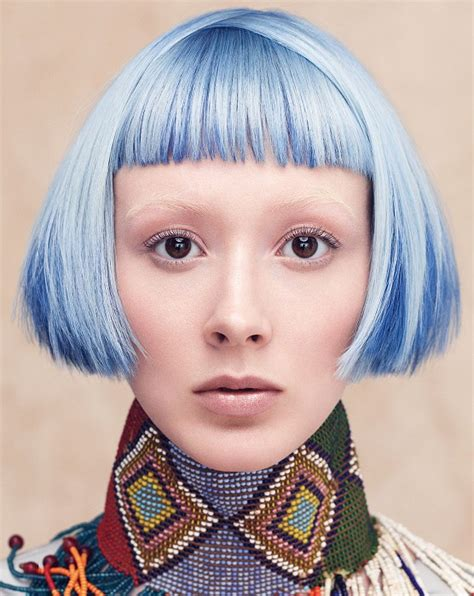 aveda short hair cuts a short blue hairstyle from the culture clash collection