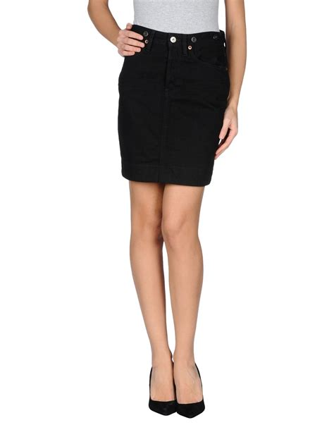 ralph denim skirt in black lyst