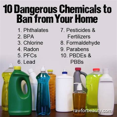 dangerous household chemicals the health page 10 harmful chemicals to ban from