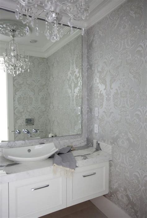 powder rooms with wallpaper 20 wallpapers with metallic accent messagenote