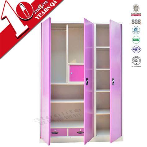 3 door wardrobe closet bedroom 3 door pink steel wardrobe design cheap