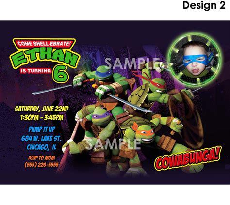 mutant turtles invitation printable tmnt