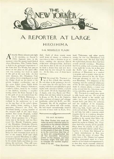 Hiroshima Essay by A Noiseless Flash Hersey S Hiroshima 1946