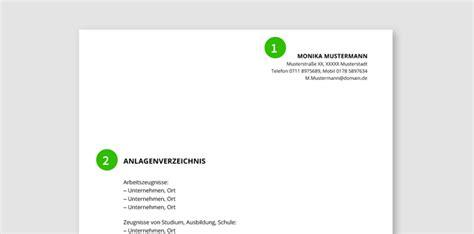 Bewerbung Anordnung Der Anlagen Bewerbungsunterlagen Muster Bewerbungsprofi Net