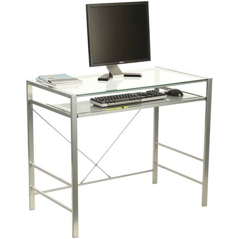 computer desk with monitor stand clear glass corner computer desk with monitor stand
